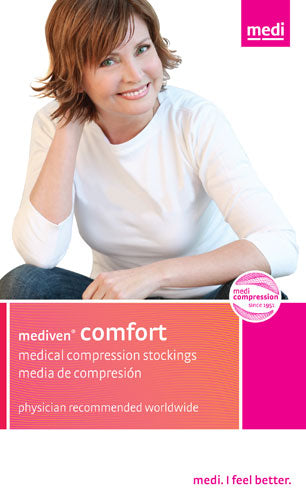 Mediven Comfort, 20-30 mmHg, Thigh High w/Lace Top Band, Closed Toe