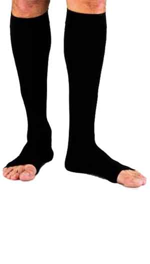 Jobst for Men 20-30 mmHg Black Knee High Open Toe