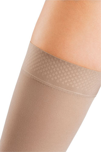 Mediven Comfort, 15-20 mmHg, Thigh High w/Beaded Silicone Band, Open Toe