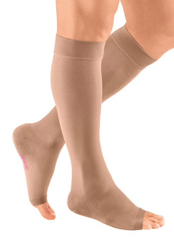 Chocolate Mediven Plus, 30-40 mmHg, Knee High, Open Toe | Compression Care Center | Compression Stocking