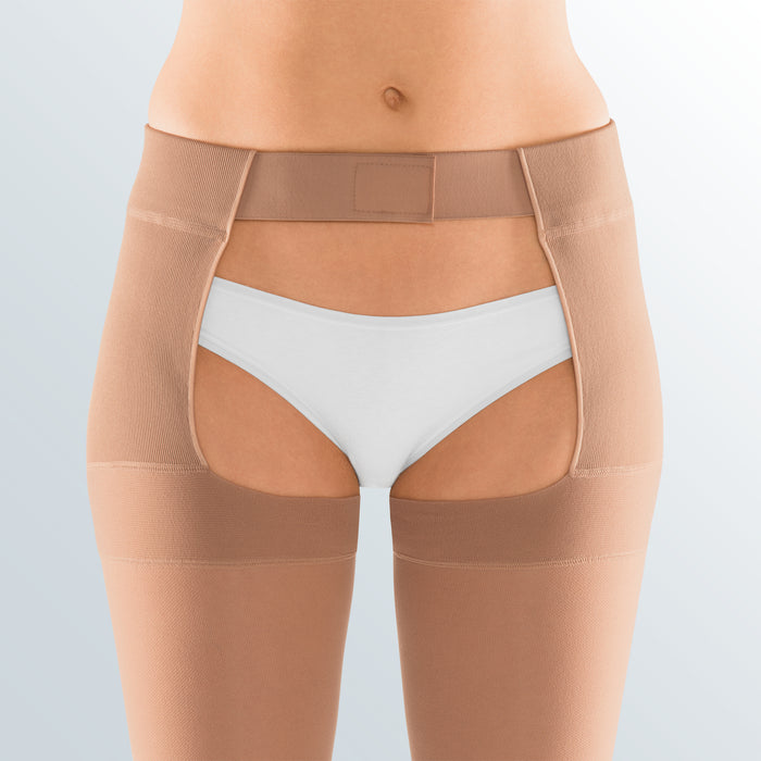 Mediven Plus, 30-40 mmHg, Thigh w/Waist Attachment, Open Toe