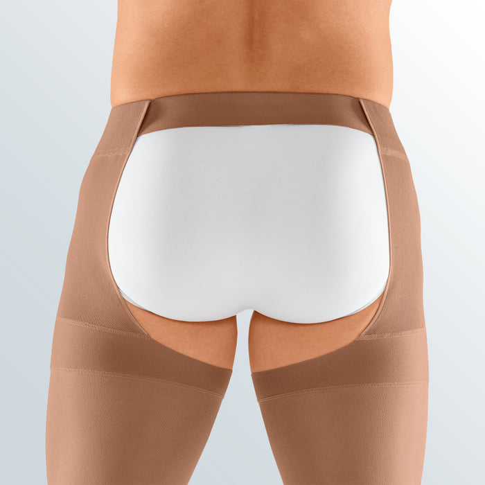 Mediven Plus, 40-50 mmHg, Thigh w/Waist Attachment, Open Toe