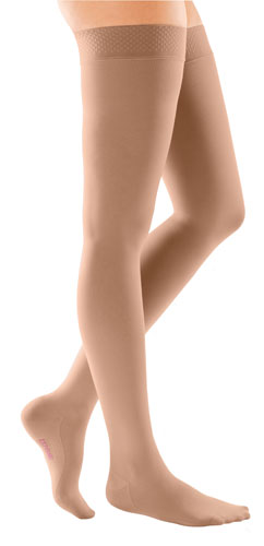 Mediven Comfort, 30-40 mmHg, Thigh High w/Lace Top Band, Closed Toe