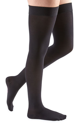 Mediven Comfort, 15-20 mmHg, Thigh High w/Lace Top Band, Closed Toe