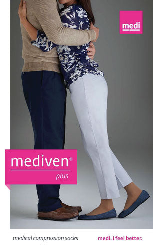 Mediven Plus, 20-30 mmHg, Knee High w/Extra Wide Calf, Silicone TB, Closed Toe