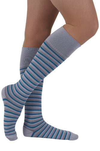 Mediven Rejuva Stripe, 15-20 mmHg, Knee High, Closed Toe