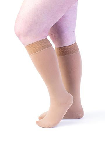 Sigvaris 553C Secure, 30-40 mmHg, Knee High, Closed Toe, Silicone Dot Band