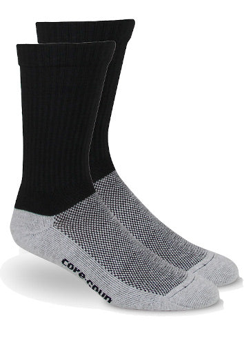 Core-Spun, 10-15 mmHg, Crew Sock, Closed Toe