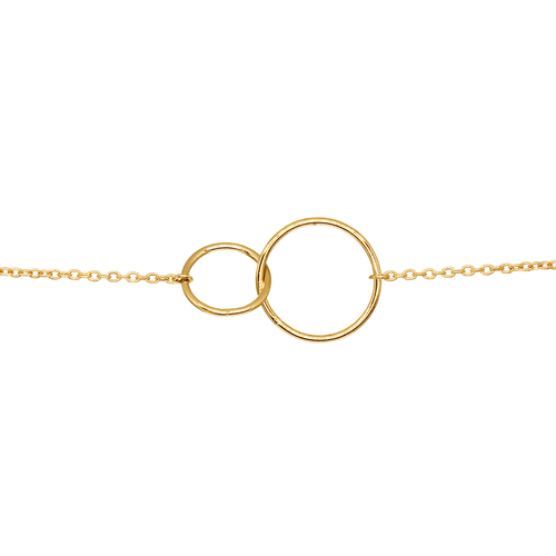 Revi Studios - 18K gold-plated Jewelry. Bracelet with chained rings. (Revi Studios - 18K aranyozott ékszer)