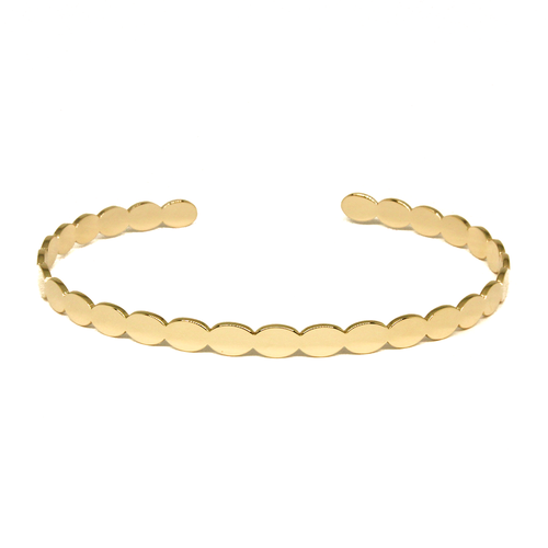 Revi Studios - 18K gold-plated Jewelry. Bracelet with playful edges. (Revi Studios - 18K aranyozott ékszer)