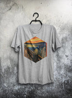 Scream Munch T-shirt Men Tshirt Male Fashion Shirt