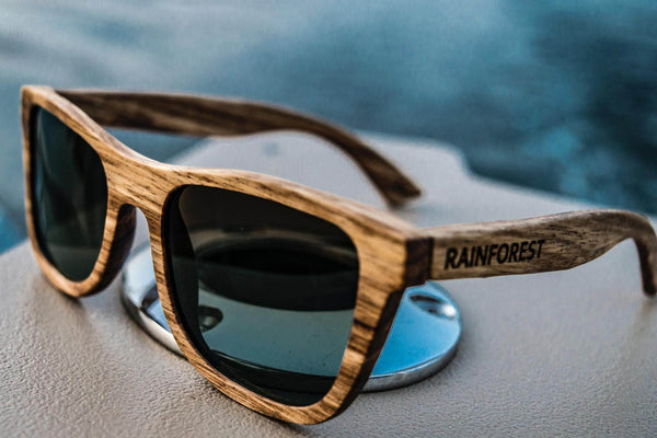 SEAFARER - GRAPHITE - WOOD SUNGLASSES