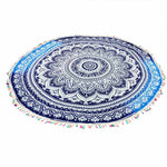 Summer Women Beach Round  Tassel Tapestry Beach Throw Mandala Towel Yoga Mat   saida de praia #20