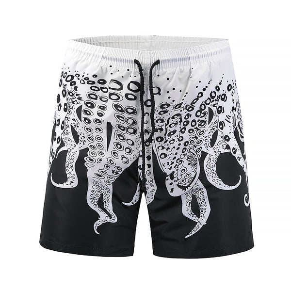Mens Beach Shorts 3D Octopus Printing Summer Shorts Swimming Briefs Beachwear