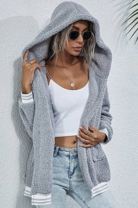 Snuggly Faux Sherpa Hooded Jacket