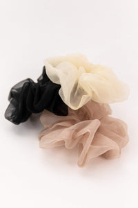 organza scrunchie set