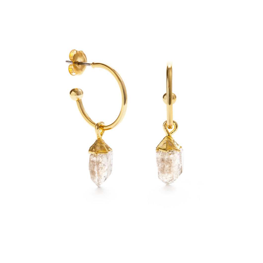 23GS-HERK | Herkimer Diamond Nugget Hoops