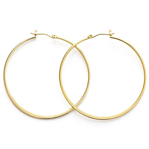 "23FH2-G | 2"" 24K Gold Hoops"