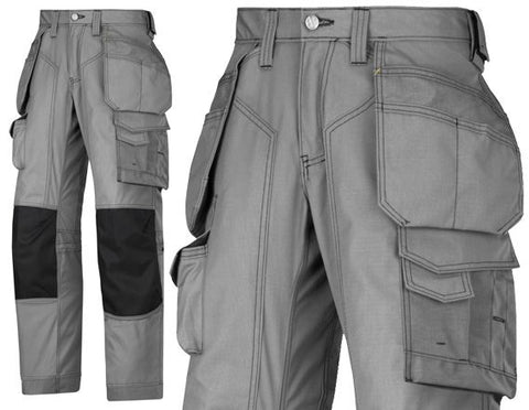 Snickers 3223 Floor Layers Trouser dark Grey / Black (Last One) - SALE