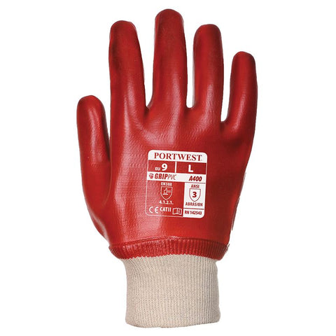 PW076 PVC knit wrist glove (A400)