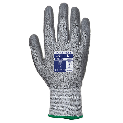 PW083 Cut level 3 PU palm-coated glove (A620)