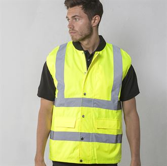 High-visibility bodywarmer