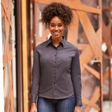 Russell Collection Women's long sleeve classic twill shirt (J916F)