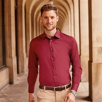 Russell Collection Easycare Fitted Shirt - Long sleeve (J946M)