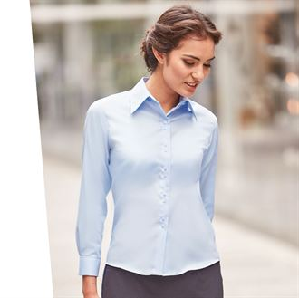 Russell Collection Women's Long Sleeve classic twill shirt (J956F)