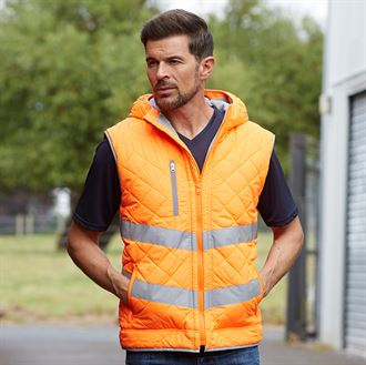 Hi-vis Kensington hooded gilet