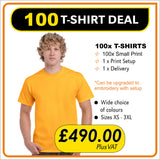 100 TSHIRT Deal - only £4.90 each