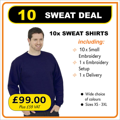 10-SWEAT-DEAL - only £9.90 each