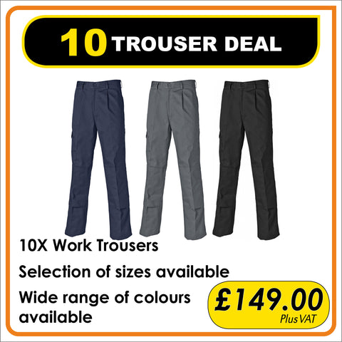 10 TROUSER DEAL - only £14.90 each