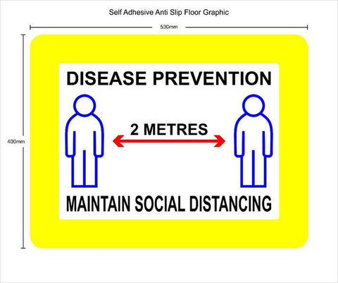 Disease Prevention Anti Slip Floor Graphic - COVID19
