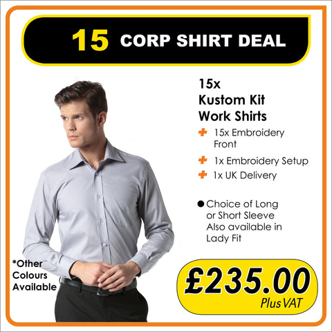 15 CORPORATE SHIRT DEAL - only £15.66 each