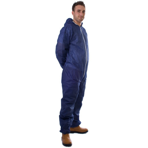 Box of 50, PP Non-Woven Coveralls Navy - SALE