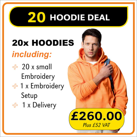 20HOODIE Deal - only £13.00 each