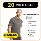 20POLO Deal - only £6.25 per shirt