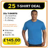 25TSHIRT Deal - only £5.80 each