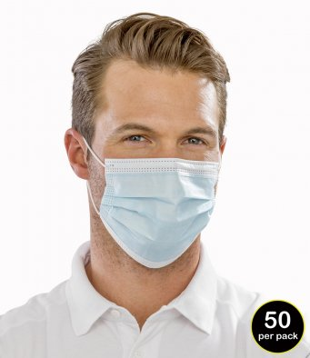 Result Type IIR 3-Ply Disposable Face Mask - Box of 50
