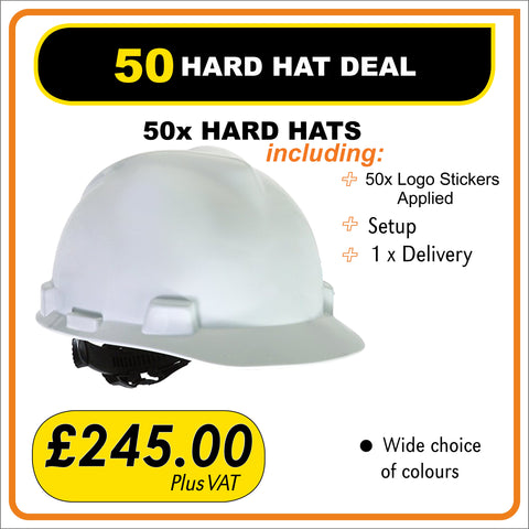 50 HARD HAT DEAL - only £4.90 Each