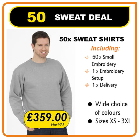 50-SWEAT-DEAL - only £7.18 each