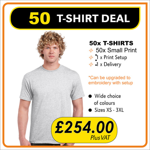 50 TSHIRT Deal - only £5.08 each
