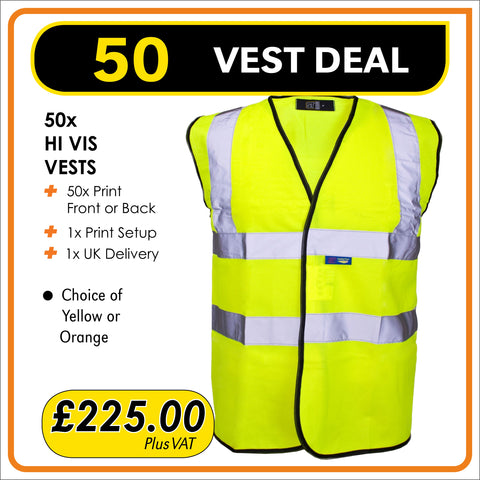 50VEST Deal - only £4.50 each