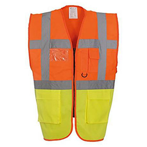 YK015 Hi-vis top cool open-mesh executive waistcoat (HVW820)