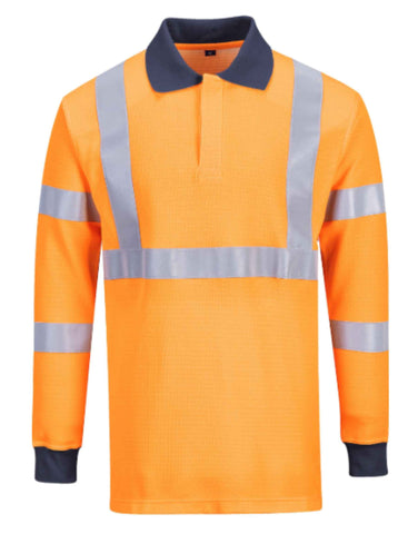 FLAME RESISTANT RIS POLO SHIRT - Orange - FR76