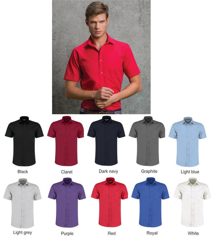 Mens Poplin Shirt -Short Sleeve (KK141)