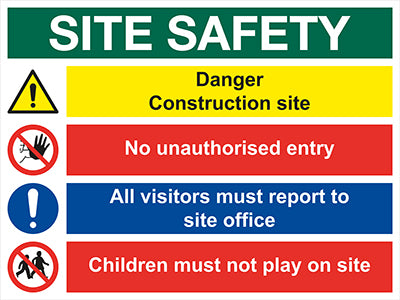 Multi Message Safety Sign 2