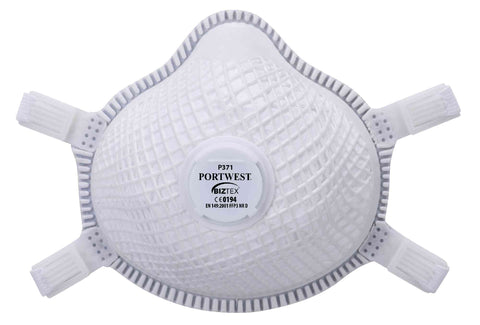Portwest P371 Ergonet Disposable Dust Masks Valved FFP3 Dolomite Box of 5
