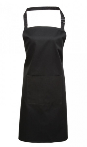 PR154 Dark Grey Colours bib apron with pocket - TRUFFLES